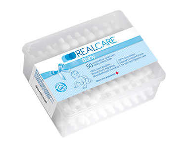 REAL CARE ΜΠΑΤΟΝΕΤΕΣ BABY ΑΠΌ 100% ΑΓΝΟ ΒΑΜΒΑΚΙ 50 ΤΕΜ.