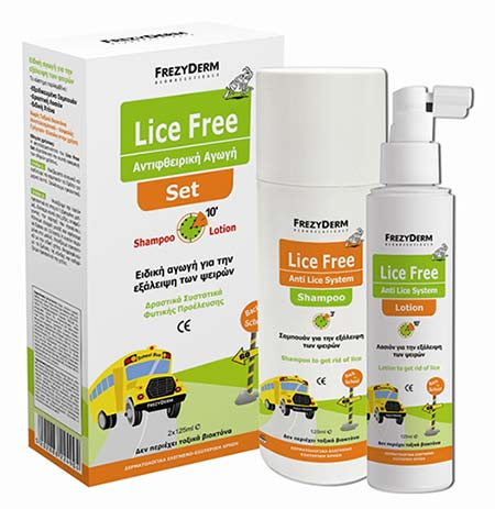 FREZYDERM LICE FREE SET (Shampoo 125ml + Lotion 125ml + Χτένα)