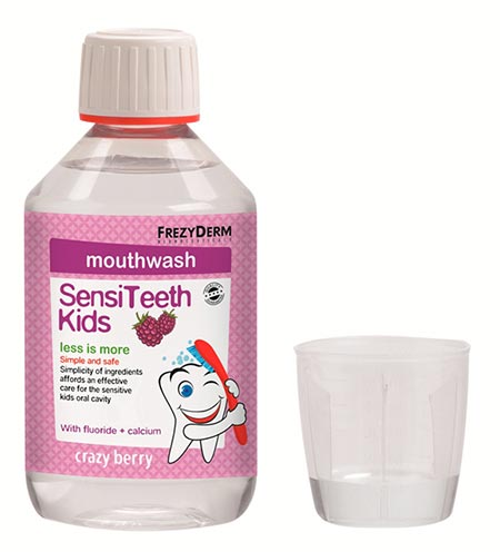 FREZYDERM SENSITEETH KIDS MOUTHWASH 250ml