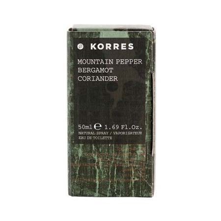 Korres Ανδρικό Άρωμα Mountain Pepper - Bergamot - Coriander Eau de Toilette 50ml