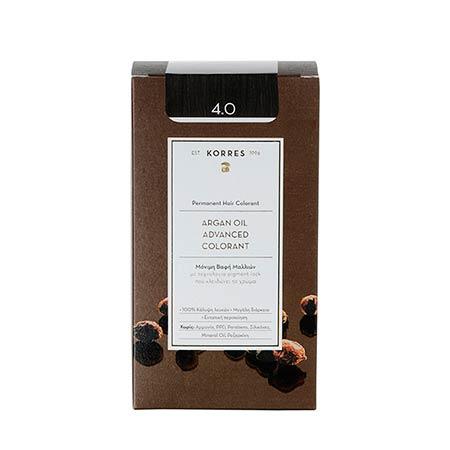 Korres Βαφή Μαλλιών Argan Oil Advanced Colorant Καστανό 4.0