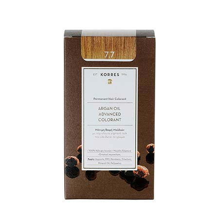 Korres Βαφή Μαλλιών Argan Oil Advanced Colorant Μόκα 7.7