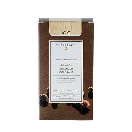Korres Βαφή Μαλλιών Argan Oil Advanced Colorant Ξανθό Πλατίνας 10.0
