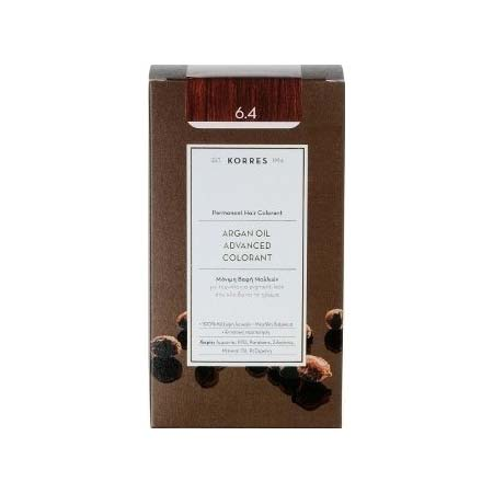 Korres Βαφή Μαλλιών Argan Oil Advanced Colorant Ξανθό Σκούρο Χάλκινο 6.4