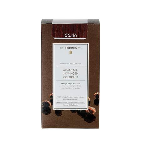 Korres Βαφή Μαλλιών Argan Oil Advanced Colorant Έντονο Κόκκινο Βουργουνδίας 66.46
