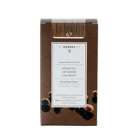 Korres Βαφή Μαλλιών Argan Oil Advanced Colorant Κακάο 6.7