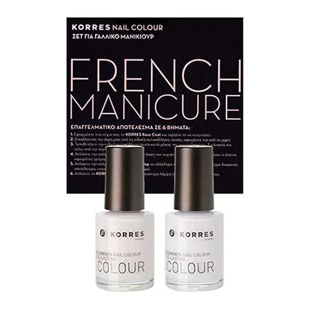 KORRES ΣΕΤ Nail Colour για Γαλλικό Μανικιούρ 000 White + 008 Candy Scallop