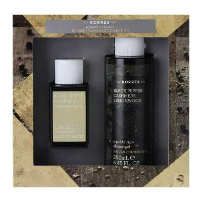ΣΕΤ Korres Ανδρικό άρωμα Black Pepper, Cashmere & Lemonwood +  ΔΩΡΟ Showergel 250ml