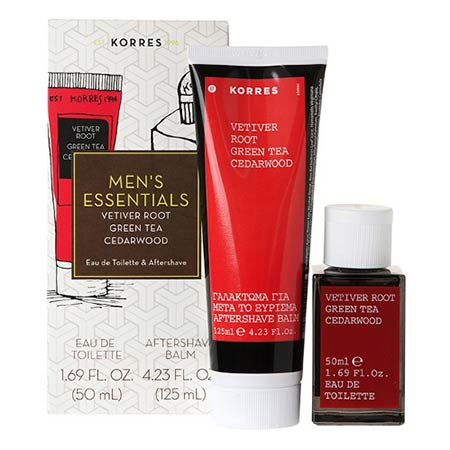 ΣΕΤ Korres Ανδρικό άρωμα Vetiver Root - Green Tea - Cedarwood 50ml + ΔΩΡΟ Aftershave Balm 125ml
