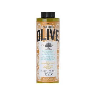 Korres Pure Greek Olive Σαμπουάν Θρέψης για Ξηρά - Αφυδατωμένα Μαλλιά 250ml