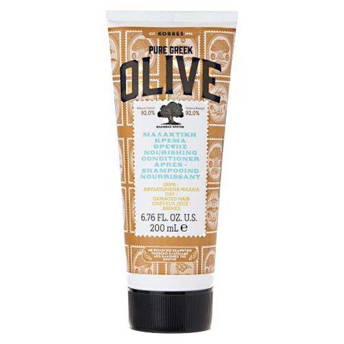 Korres Pure Greek Olive Μαλακτική Κρέμα Θρέψης για Ξηρά - Αφυδατωμένα Μαλλιά 200ml
