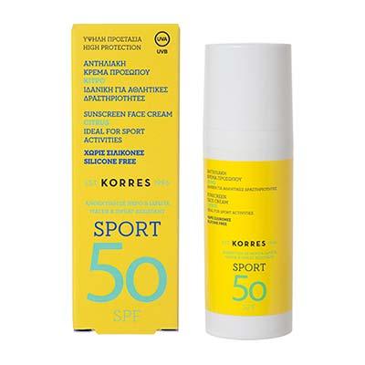 Korres Sport Sunscreen Face Cream SPF50 50ml