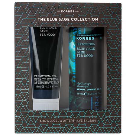 Korres PROMO SET Aftershave Balm Blue Sage - Lime - Fir Wood 125ml + ΔΩΡΟ Showergel 250ml