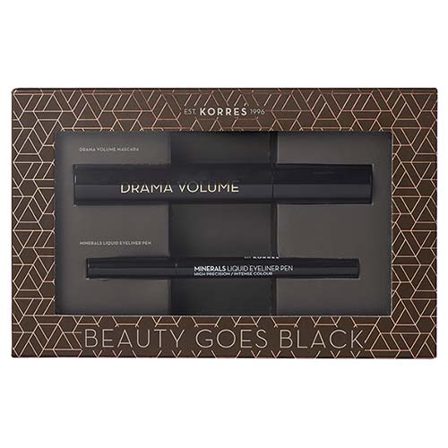 Korres Beauty Goes Black SET Mascara Drama Black + Eyeliner Pen Liquid Black