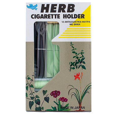 Herb Cigarette Holder 12 Ανταλλακτικά Φίλτρα Με Θήκη