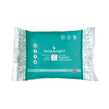 Pharmasept Tol Velvet Hygienic Cleansing Gloves (10 τεμάχια)