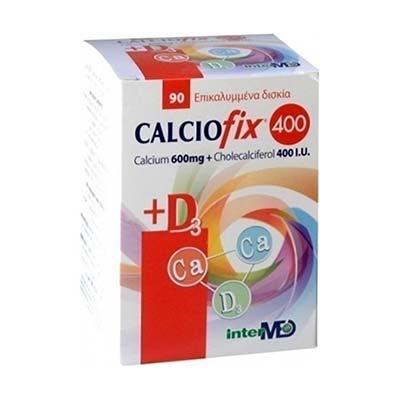 Intermed Calciofix 400 Συμπλήρωμα Διατροφής 600mg Ca & 400IU D3 90 tabs