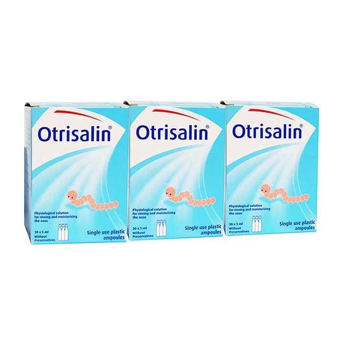 Otrisalin PROMO SET Αμπούλες Φυσιολογικού Ορού για τη μύτη, 3 πακέτα των 30x5ml
