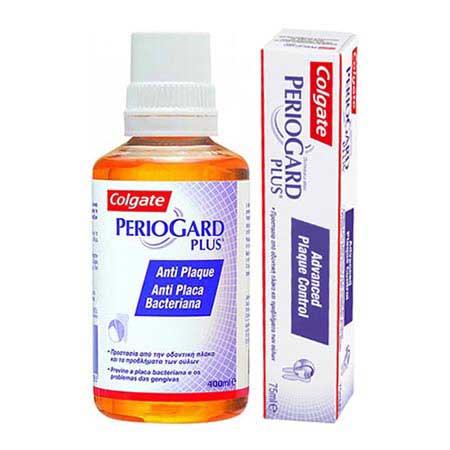 Colgate PerioGard Plus Στοματικό διάλυμα 400ml + Οδοντόπαστα 75ml