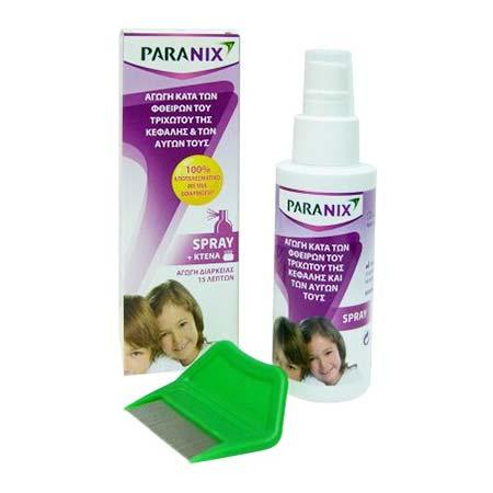 Paranix Spray Κατά των Φθειρών του Τριχωτού της Κεφαλής & των Αυγών τους  100ml + Δωρο Χτένα