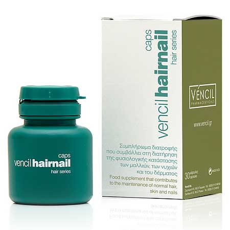 Vencil Hairnail Συμπλήρωμα Διατροφής για Μαλλιά, Δέρμα & Νύχια 30 caps