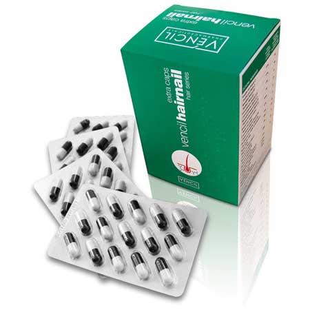 Vencil Hairnail Caps Συμπλήρωμα διατροφής μαλλιών νυχιών και δέρματος 90caps