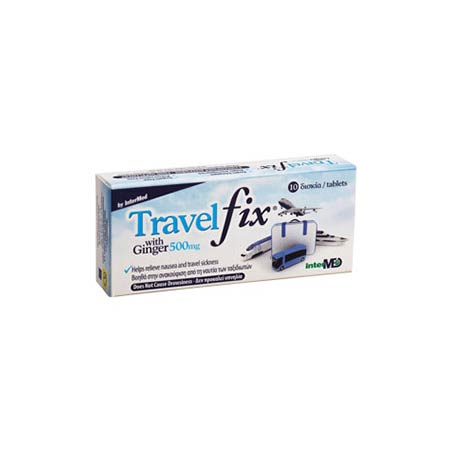 Intermed Travel Fix with Ginger 500mg 10tabs