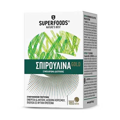 Superfoods Spirulina Gold Eubias 300mg 180 φυτικά δισκία