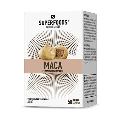 Superfoods Maca (Μάκα) Ρίζα Lepidium meyenii 50caps