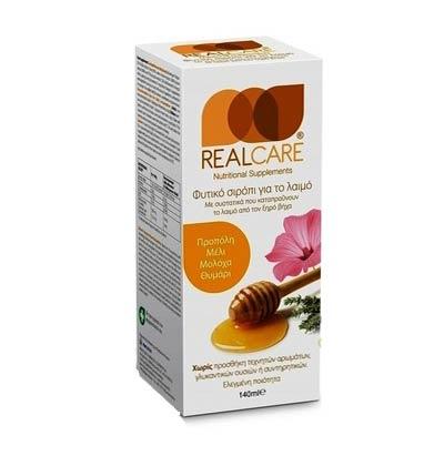 REAL CARE Αντιβηχικό σιρόπι για τον ξηρό βήχα 140ml