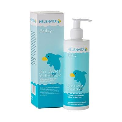 Helenvita Baby Βρεφικό Υγρό καθαρισμού για σώμα και μαλλιά με αντλία 300ml