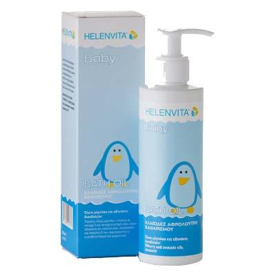 Helenvita Baby Bath Oil Ελαιώδες Αφρόλουτρο Καθαρισμού 200ml