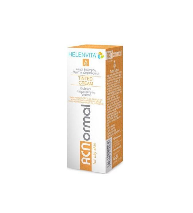 Helenvita ACNormal Tinted Cream 60ml Κρέμα Προσώπου με Χρώμα για Λιπαρό Δέρμα με Ακμή