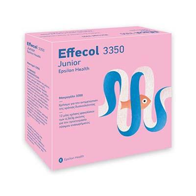 Epsilon Health Effecol 3350 Junior για την αντιμετώπιση της δυσκοιλιότητας 12 φακελίσκοι των 6.563g