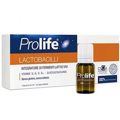 Prolife Lactobacilli Συμπλήρωμα Διατροφής με Προβιοτικά, Πρεβιοτικά & Βιταμίνες Β (7x8ml)