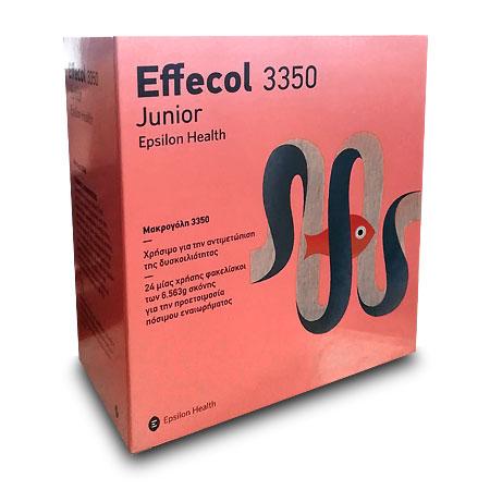 Epsilon Health Effecol 3350 Junior για την αντιμετώπιση της δυσκοιλιότητας 24 φακελίσκοι των 6.563g