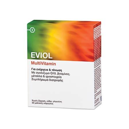 Eviol MultiVitamin Για Ενέργεια & Τόνωση, 30 μαλακές κάψουλες