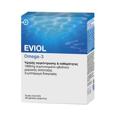 Eviol Omega-3 30 μαλακές κάψουλες