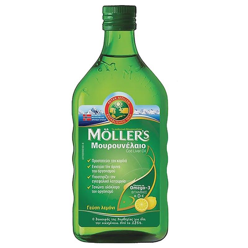 Mollers Μουρουνέλαιο Λεμόνι 250ml