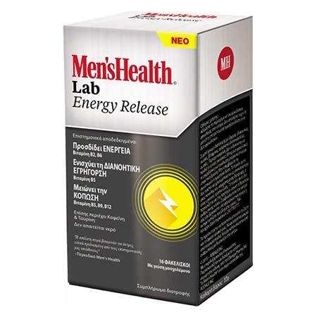 Mens Health Lab Energy Release Με Γεύση Μοσχολέμονο 16 Φακελίσκοι