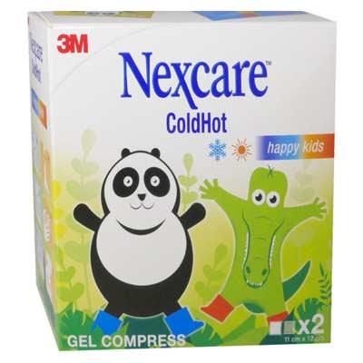 3M Nexcare Cold Hot Happy Kids Παγοκύστη / Θερμοφόρα 11 cm x 12 cm 2 τεμάχια