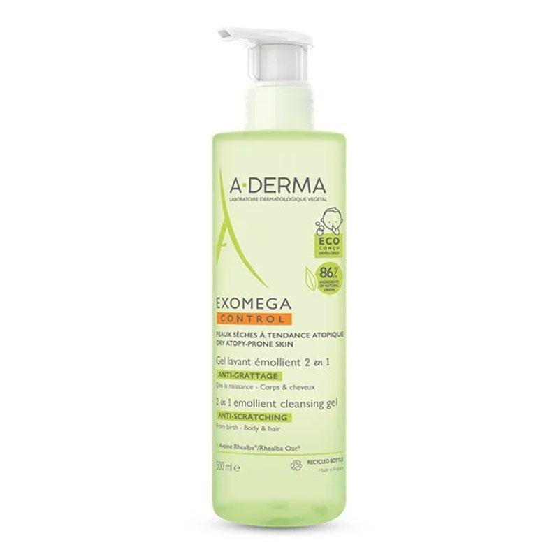 A-Derma Exomega Control Emollient Cleansing Gel 2 in 1 Βρεφικό Τζελ Καθαρισμού 500ml