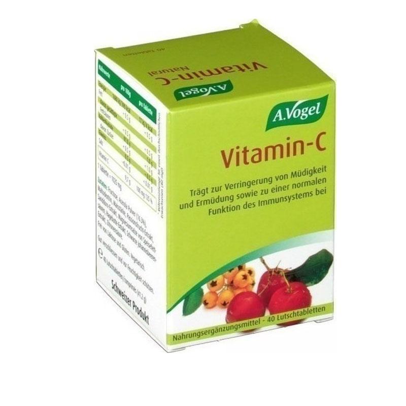 A. Vogel Vitamin C-Βιολογική 100% Απορροφήσιμη Βιταμίνη C από Φρέσκια Ασερόλα, 40 tabs