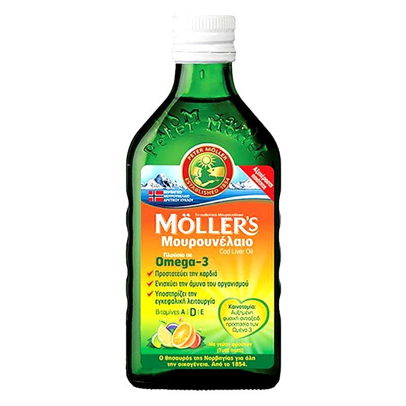 Mollers Μουρουνέλαιο Tutti Frutti 250ml