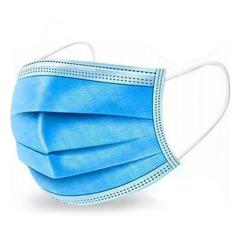 Μάσκα Ατομικής Προστασίας Ιατρική 3φυλλη με λάστιχο (CE) ΣΕΤ 50τμχ
