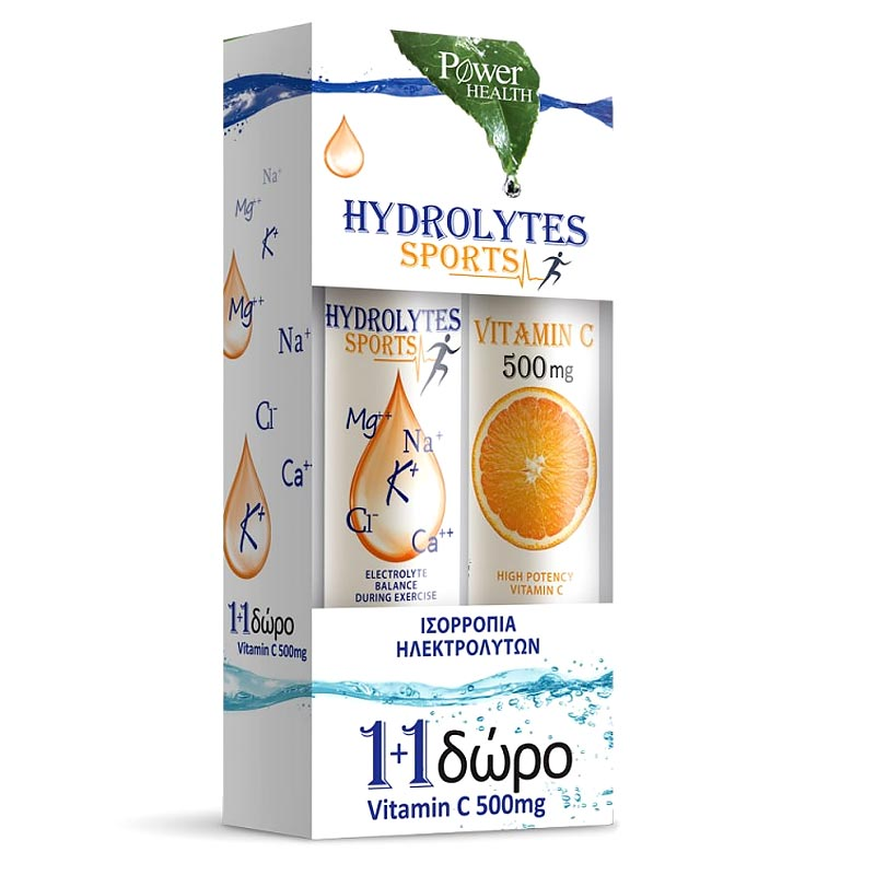 Power Health Hydrolytes Sports + Vitamin C 500mg 1+1