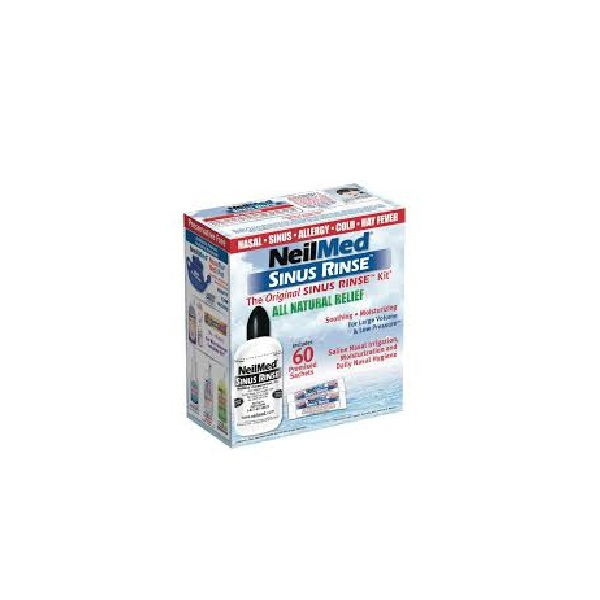 NeilMed Sinus Rinse Original Kit Σύστημα Ρινικών Πλύσεων Συσκευή + 60 Φακελάκια