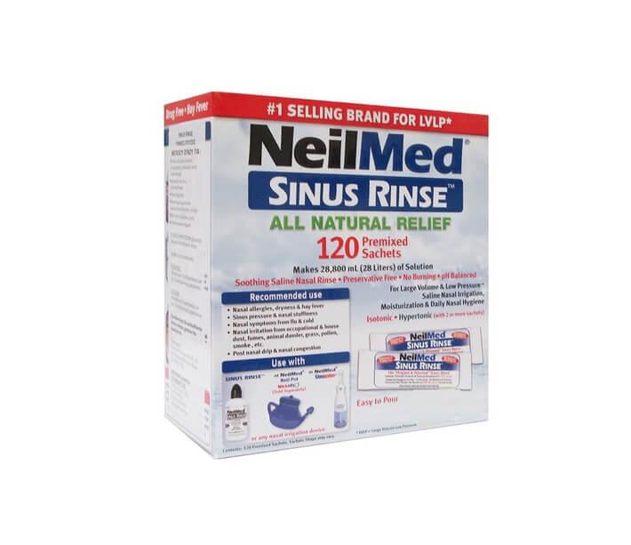 NeilMed Sinus Rinse Ισοτονικό Διάλυμα Ρινικών Πλύσεων για Ενήλικες, 120 φάκελοι