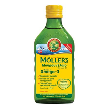 Mollers Μουρουνέλαιο Φυσική Γεύση 250ml