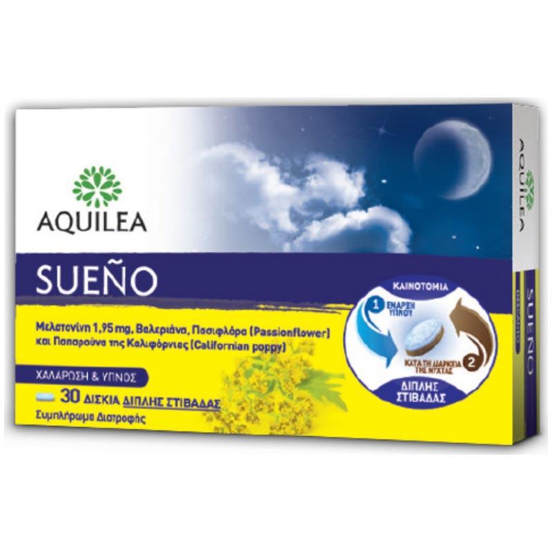 Galenica Aquilea Sueno Συμπλήρωμα Διατροφής για Χαλάρωση & Ύπνο 30 δισκία